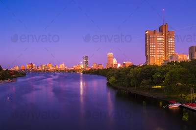 View of Boston, Cambridge, and the Charles River