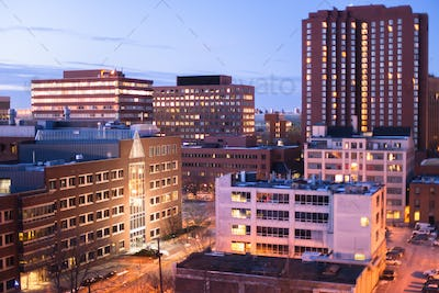 Kendall Square at Dusk