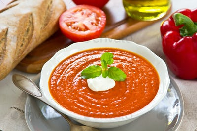 Tomato with red Pepper soup