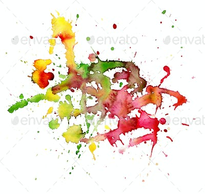 Watercolor blot.