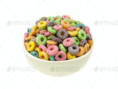 Loops cereal bowl top view