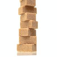 Sugar cubes piled-up