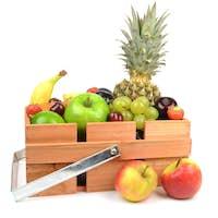 Wooden Box of Fresh Fruit