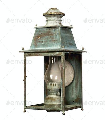 Green lantern isolated on white background