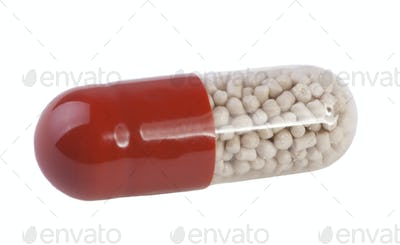 Capsule on white background