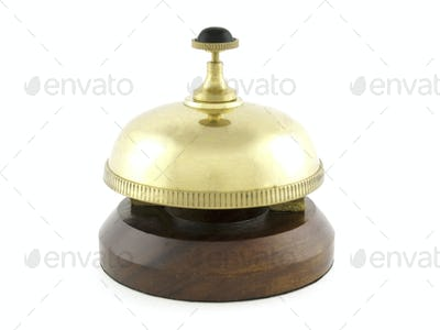 Hotel desk brass bell