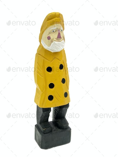 Old fisherman statuette 3/4 view