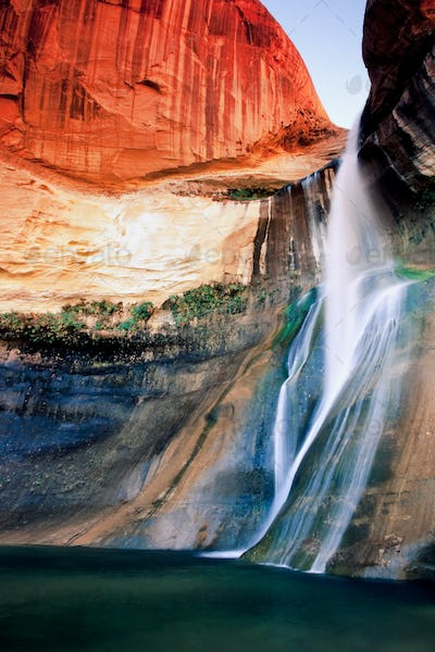 Waterfall in Utah's red rock country