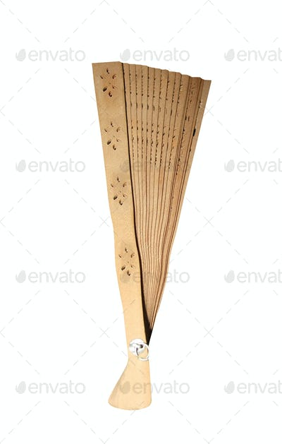 Japanese folding fan isolated