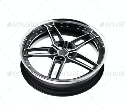 alloy rim isolated