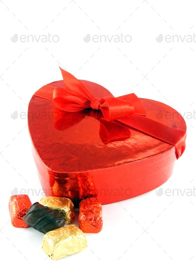 Love Heart Shaped Box of Chocolates