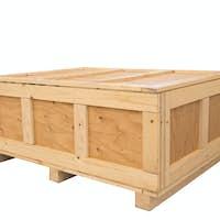 Big cargo wooden crate