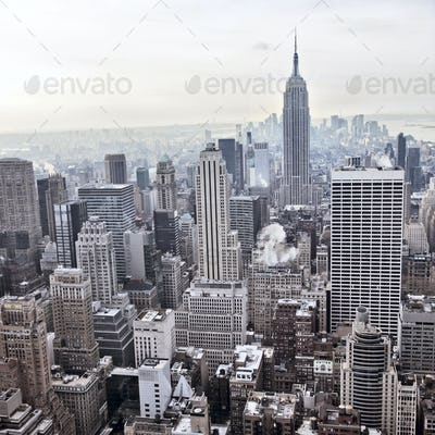 New York City skyline view from Rockefeller Center, New York, USA