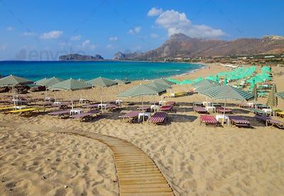 Beach on Crete Island, Greece