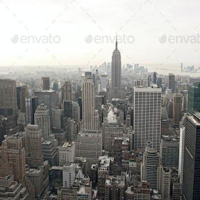 New York City skyline view from Rockefeller Center, New York, USA