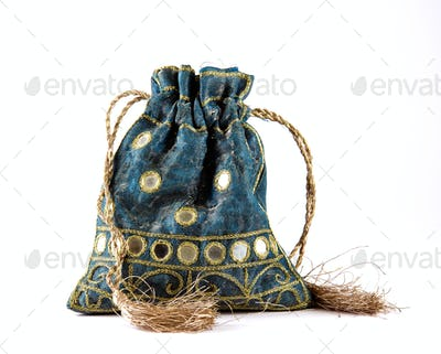 Decorative drawstring pouch