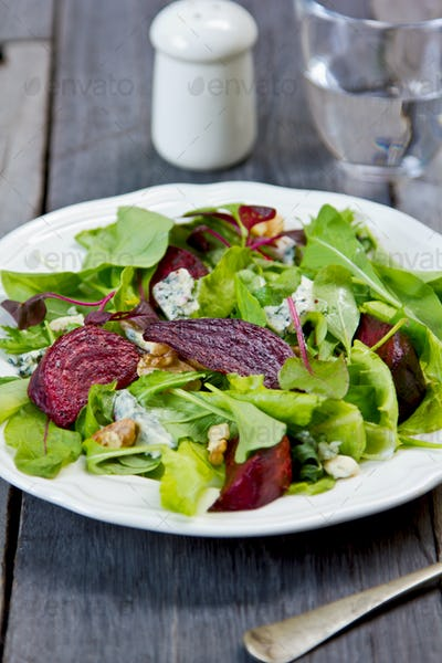 Roasted Beetroot with Blue cheese salad