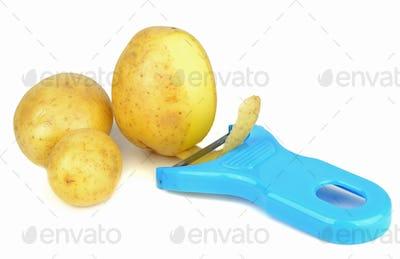 Potato Peeler and Potatoes