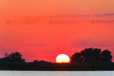 sunset in the Danube Delta