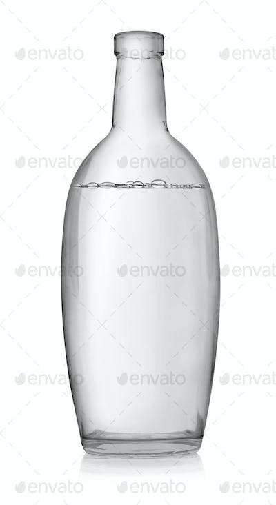 Open bottle of vodka