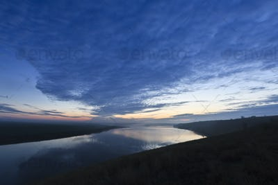 clouds on lake