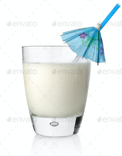 Milk cocktail in a glass
