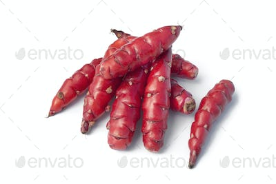 Fresh red New Zealand yams
