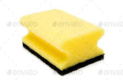 Cleaning Sponge Isolated on a White Background