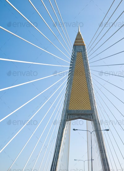Cable-stayed bridge in Bangkok