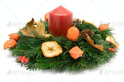 Advent Wreath Isolated on a White Background