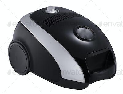 black vacuum cleaner isolated
