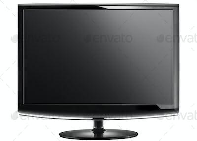 Modern widescreen lcd tv monitor