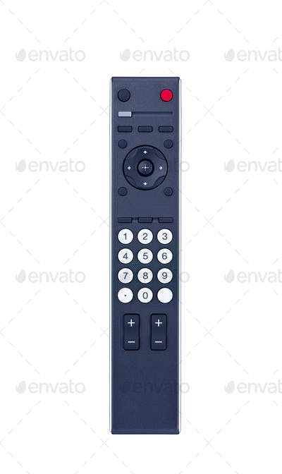 TV remote control isolated on white