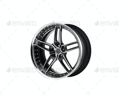 alloy rim on white background