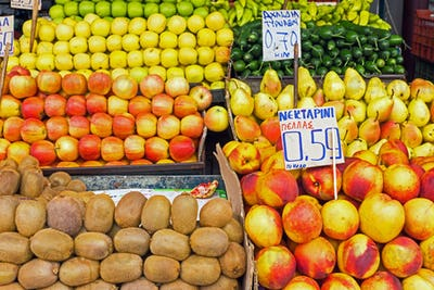 Different kinds of fruits for sale