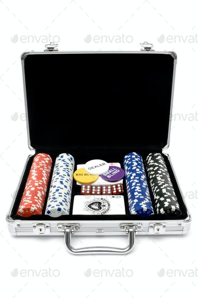 Poker Set Isolated on a White Background