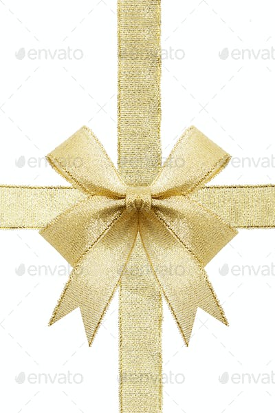 Golden gift bow.