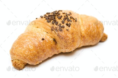 Chocolate Croissant Isolated on a White Background
