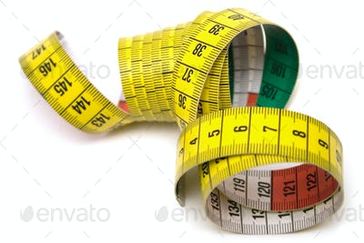 Yellow Measuring Tool Isolated on a White Background