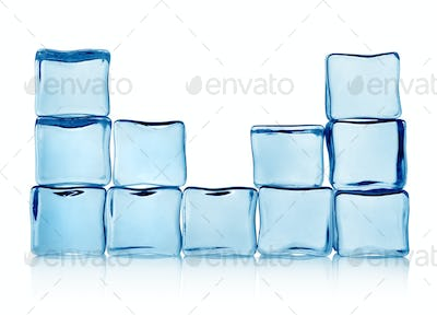 Figures from ice cubes