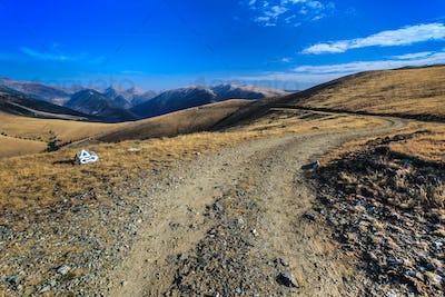 rustic mountain road
