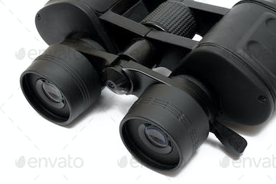 Binoculars Close-up Isolated on a White Background