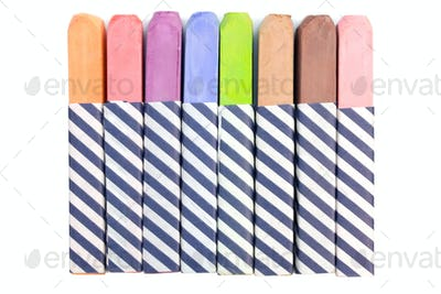 Colorful Chalk Isolated on a White Background