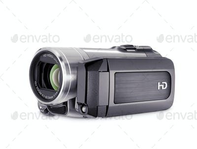 high-definition camera isolated on a white background