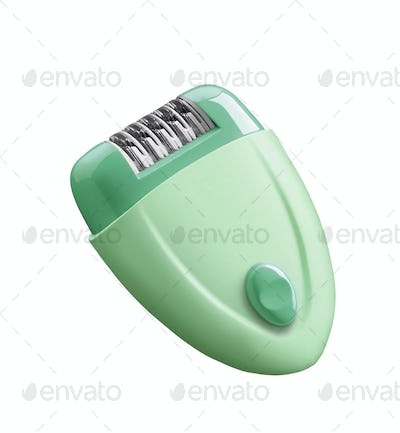 electric depilator isolated over white background