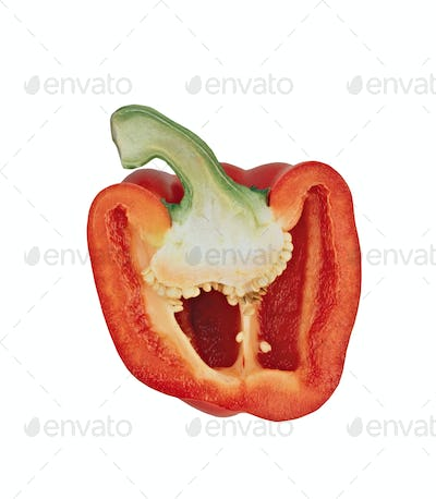 sweet pepper isolated on white background