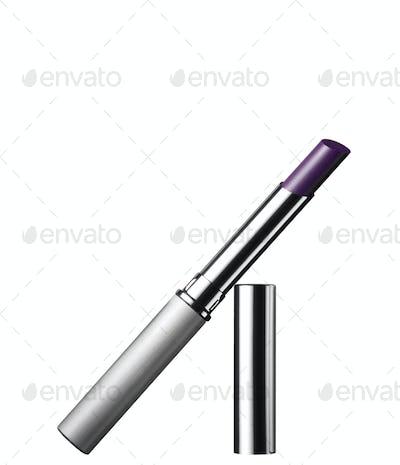 Shiny lipstick isolated on white