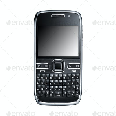 Cell phone on white