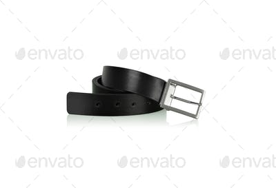 Black belt on white background.