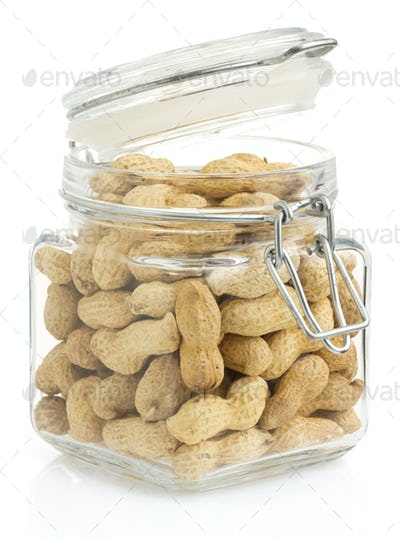 nuts peanuts on white background